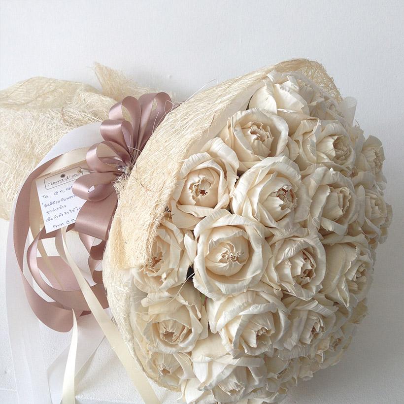 white rose giant bouquet - Tierra Flower